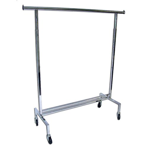 Amazon.com: Single Rail Rolling Garment Clothing Rack, Commercial