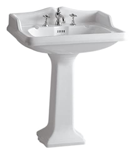 Single Hole Pedestal Sink.China Series Large Pedestal Sink With An Intergrated