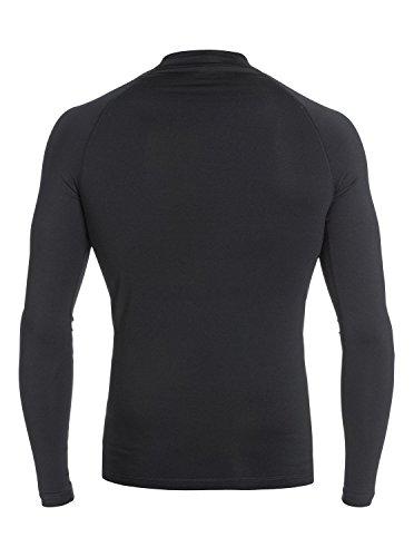 Quiksilver Men's Lock Up Long Sleeve Long Sleeve Surf Tee Rashguard, Black, Small