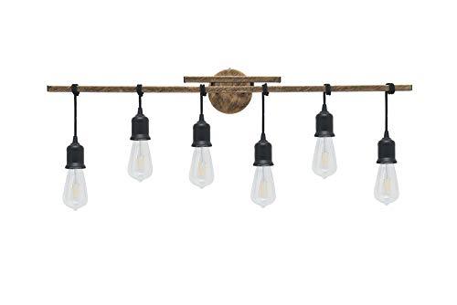 Homenovo Lighting 6-Light Farmhouse Bathroom Vanity Light Fixture