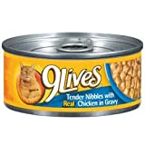9Lives Tender Nibbles with Real Chicken in Gravy Canned Cat Food (24/5.5-oz cans), My Pet Supplies