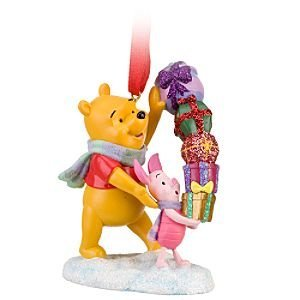 Click for larger image of Disney Piglet and Winnie the Pooh Ornament