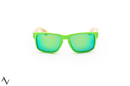 AV Bamboo Polarized (Green, - Apex Sunglasses