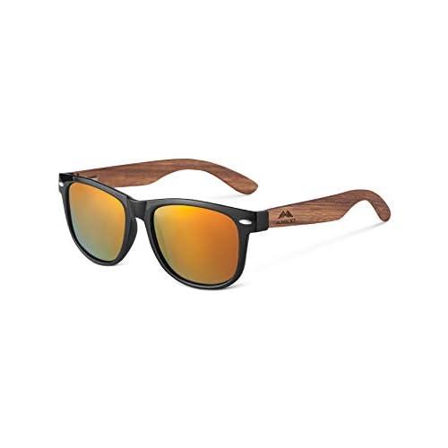 GreenTreen Gafas de Sol Polarizadas Hombre y Mujere, Gafas Ligeras con Patillas de Madera a buen precio