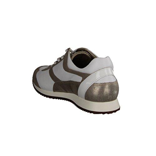 Xsensible Levy 200183124G- Bequemschuhe / lose einlage Damenschuhe Bequeme Schnürschuhe, Weiß, stretchleder, absatzhöhe: 15 mm