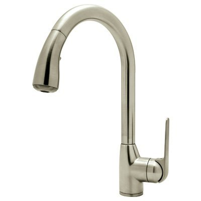 Rohl R7506SSTN-2 B240Nshstn R7506S-2 De Lux Bar Faucet with Pull Out Spray and Metal Lever Handle, Satin Nickel by Rohl