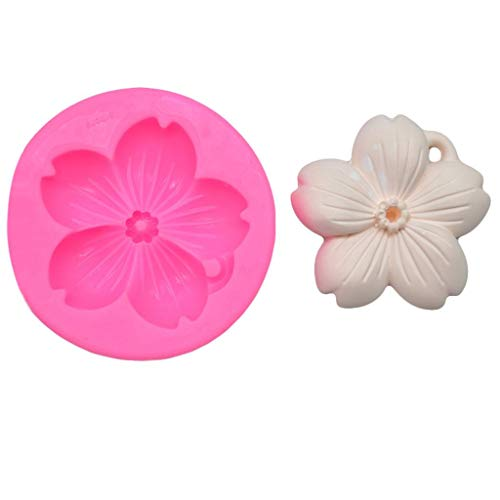 - Flowers Silicone Fondant Mold Cake Decorating Chocolate Baking Mould Tool,Pink