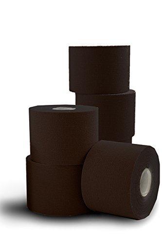 SpiderTape 6 Roll Box of Kinesiology Tape (Black) ()