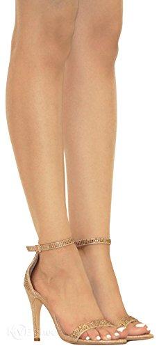 Ankle Chunky Women's MVE Sandals Strap Champane Fashion Shoes Heeled a qXtwZ5Wfw7