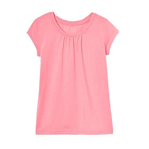 Pink Girls Shirt - French Toast Girls' Big Short Sleeve Crewneck T-Shirt Tee, Pink Pizzazz Heather, M (7/8)