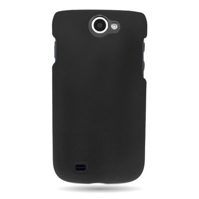 for Samsung Exhibit II 4G / Galaxy Exhibit 4G T679 - Hard Snap On Case Slim Rubberized Plastic Cover by CoverON - Black