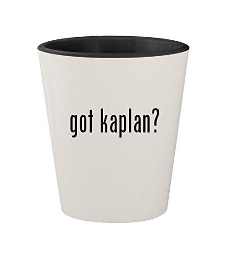 got kaplan? - Ceramic White Outer & Black Inner 1.5oz Shot Glass
