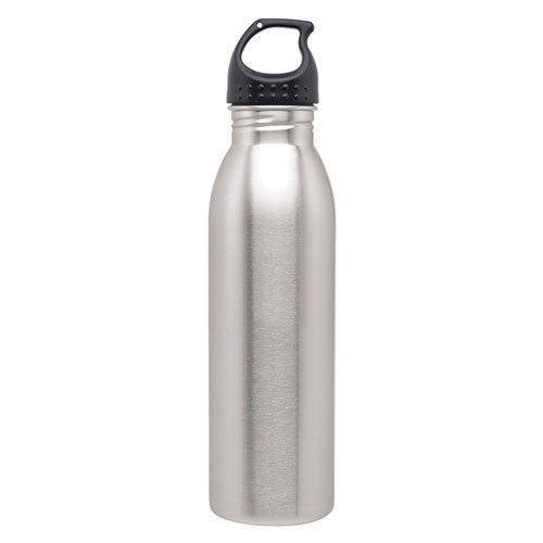 Slim Line Stainless Steel Water Bottle Canteen - 24oz. Capacity - Brushed Stainless