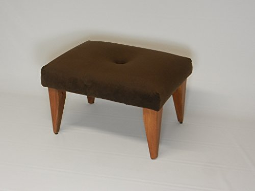Tufted Art Deco Suede Foot Stool ()