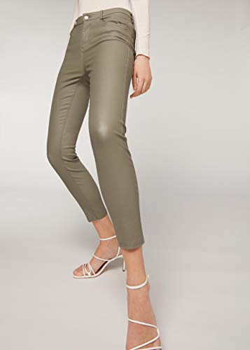 CALZEDONIA Femme Legging Skinny effet cuir