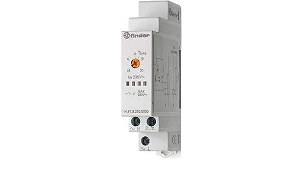 Finder serie 14 - Automático escalera interruptor unipolar 230v 16a: Amazon.es: Bricolaje y herramientas
