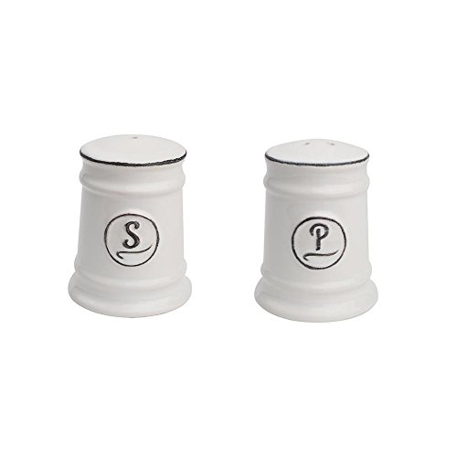 T&G Woodware Pride of Place Salt and Pepper Shakers in White 18081/2