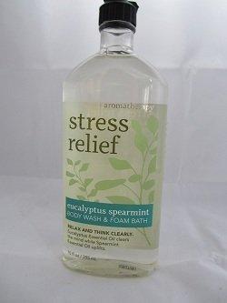 Bath & Body Works Aromatherapy Stress Relief - Eucalyptus + Spearmint Body Wash & Foam Bath, 10 Fl Oz by Bath & Body Works