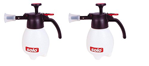 Solo 418 One-Hand Pressure Sprayer, 1-Liter, Ergonomic Grip for Gardening, Fertilizing, Cleaning & General Use Spraying (Pack of 2)