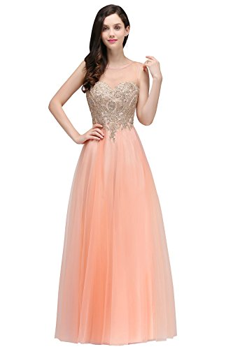 c4448edf9e38 Babyonline Blue Long Prom Lace Dresses Evening Gowns with Sequins ...