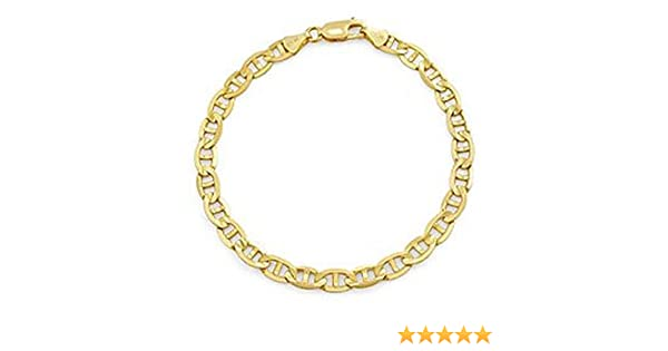 f2071f22c18 Amazon.com  14k Yellow Gold Gucci Link Italian Men s Bracelet (8