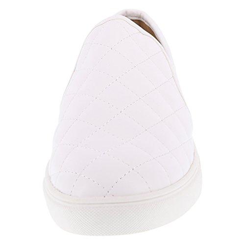 Prahlerei Frauen Crave gesteppte Slip-On Gestepptes Weiß