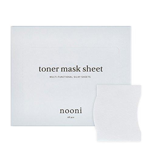 NOONI Toner Mask Sheet 60 pcs, Beauty cotton pads, Nature facial cotton, DIY sheet masks, Silky cotton sheet