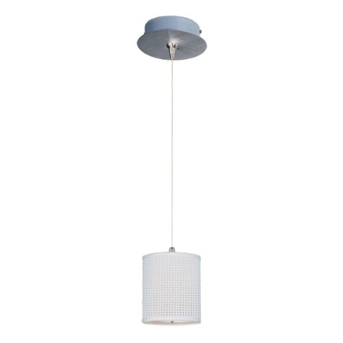 ET2 E95491-100SN Elements 1-Light RapidJack Pendant and Canopy Mini Pendant, Satin Nickel Finish, Glass, 12V GY6.35 T4 Xenon Bulb, 40W Max., Dry Safety Rated, Standard Dimmable, Glass Shade Material, 500 Rated Lumens ()