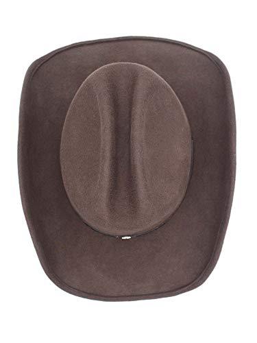 Men s Wool Cowboy Hat Cody Shapeable Western Felt Hats by Silver Canyon 6a834772b77d