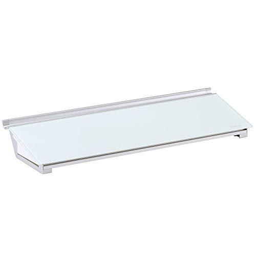 (Quartet Glass Whiteboard Desktop Computer Pad with Storage Drawer, 18