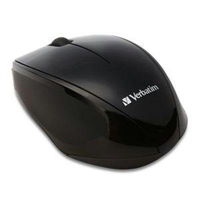 Verbatim Wireless Notebook Multi-Trac Blue LED Mouse - Black from Verbatim