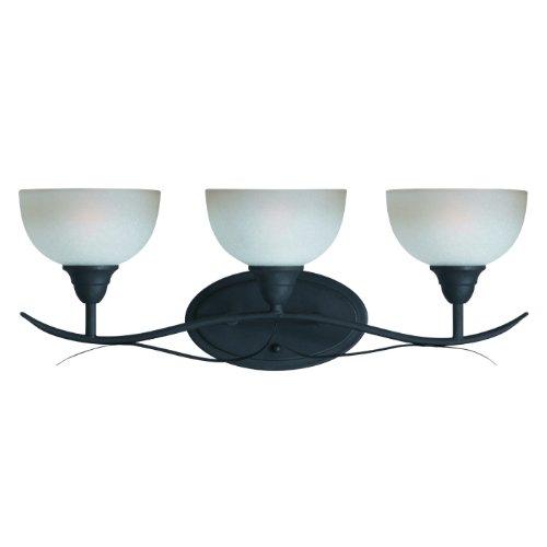 Triarch 33260/3 3 Light Value Bathroom Light, Blacksmith Bronze