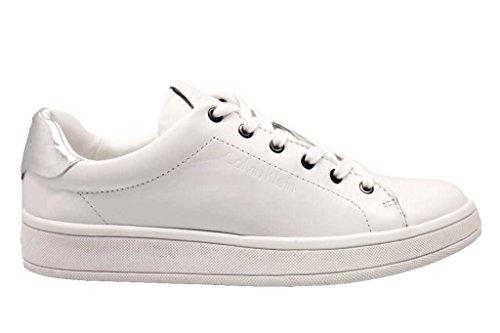Calvin Klein Nappa White Solange Trainers WoMen N12071wsi Soft Silver rrIwzqdg