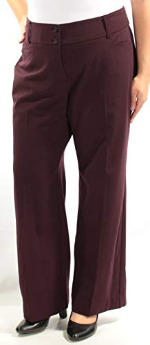 Alfani Women's Curvy Fit Two Button Dress Pants (16S, Vintage Wine) by Alfani