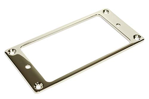 guitar parts flat humbucker pickup mounting ring, Nickel plated - Brass Short Backplate