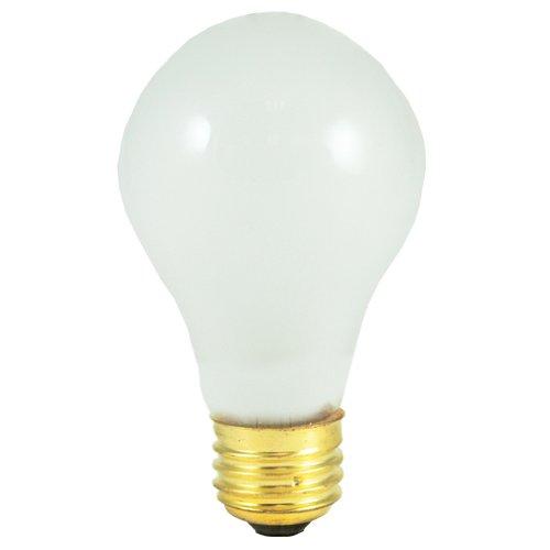 Medium Flood Base E26 Frost - Bulbrite 100A/220 100-Watt High Voltage Incandescent Standard A19, Medium Base, Frost, 24 Bulbs
