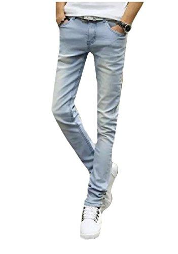 Top SportsX Men Slant Pocket Trousers Denim Pants Trim-Fit Fashion Jeans