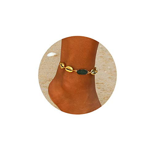 EGOO&YAMEE Natural Cowrie Bead Shell Bracelet Hawaiian Jamaican Style Adjustable Beach Surfer Jewelry Macrame Bracelets for Women Girls
