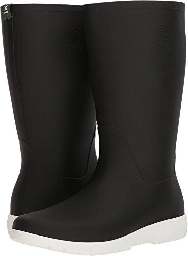 Kamik Women's Jessie Rain Boot, Black and White, 8 Medium US