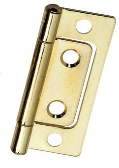 Non-Mortise Bright Brass Hinge 2