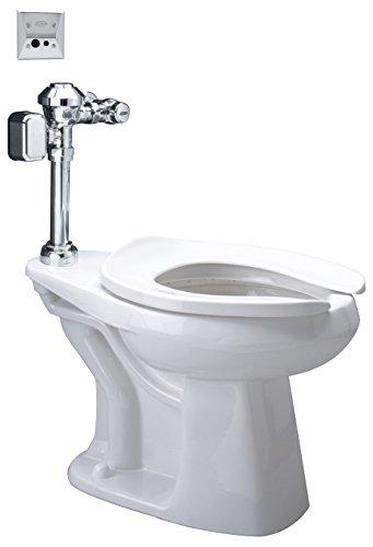 Zurn Z5655.274.00.00.00 1.28 gpf Floor Mount Elongated Toilet SystemTop Spud Diaphragm Hardwired Sensor Valve