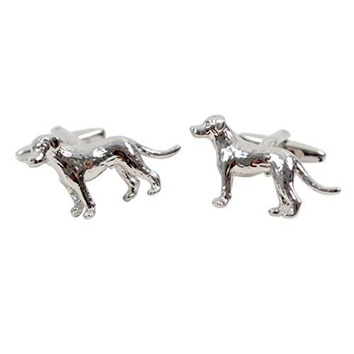 - Crazy4Bling Silver Tone Dog Novelty Cufflinks, Medium