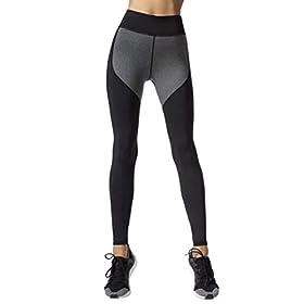 Women Leggings Gillberry Women Sports Trousers Athletic Gym Workout Fitness Yoga Leggings Pants For Women Dark Gray S