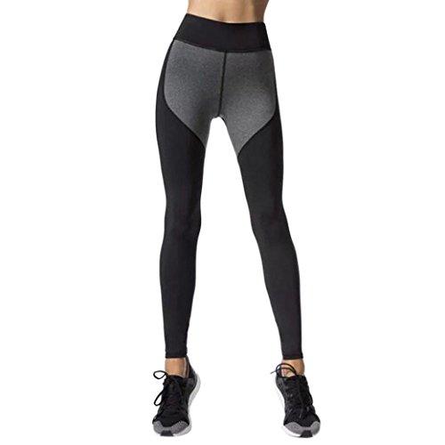 Women Leggings, Gillberry Women Sports Trousers Athletic Gym Workout Fitness Yoga Leggings Pants For Women (Dark Gray, XL)