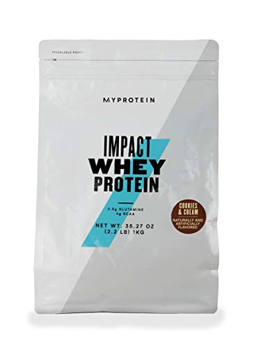 Myprotein® Impact Whey Protein Powder, Cookies and Cream, 2.2 Lb (40 Servings)