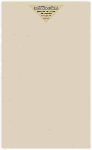 (250 Earthy Driftwood Tan Fiber 80# Cover Paper Sheets - 8.5