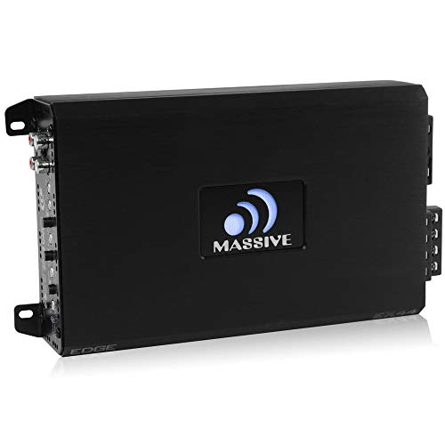 Edge Amplifier - Massive Audio EX44 - Car Audio 800 Watt, 200w x 4 RMS, Nano Edge Series, 4 Channel Car Amplifier, Bass Boost