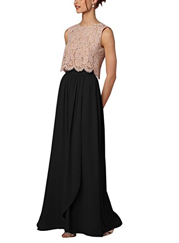 CoutureBridal Women Long Chiffon High Waist Full Length Maxi Skirt Bridesmaid Prom ()