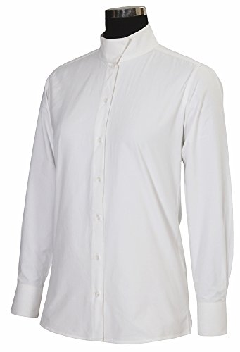 TuffRider Women's Starter Long Sleeve Show Shirt, White, 32 (Show Ladies Shirt)