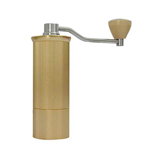 XEOLEO Manual Coffee grinder Portable Aluminum Coffee miller Coffee milling machine 45mm/15g capacity (Gold)